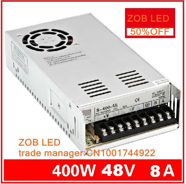 400W S400W-48V-7.5A LED ROHS Switching Power Supply,8A,85-265AC input,power suply 48V Output CE ROSH(China (Mainland))