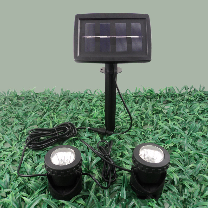 The new solar light amphibious tank D projection lamp lawn lights outdoor garden courtyard pool<br><br>Aliexpress