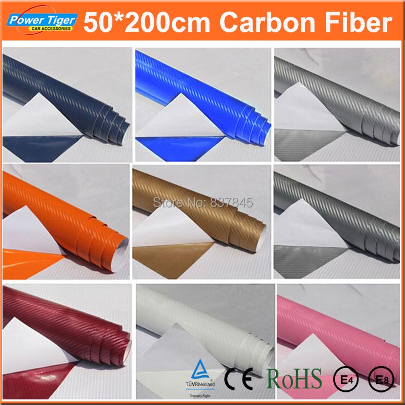 200cm*50cm Car Styling 3D 4D DIY Car Exterior Decoration Carbon Fiber Vinyl 3M Motorcycle Car Sticker Auto Paint protection Film(China (Mainland))