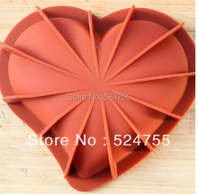 Free Shipping Peach Heart Shape Cake Baking Mold Silicone Cake Modelling Soap Ice Jelly Pudding Making Cake Tools Hot Sale(China (Mainland))