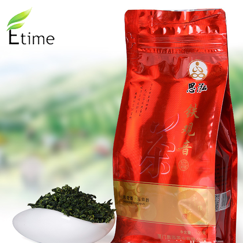 tikuanyin tea New Arrival Wholesale Anxi tieguanyin 100g Bag Packing Top Grade Fresh Fragrance Flavor Organic oolong tea ZK008(China (Mainland))