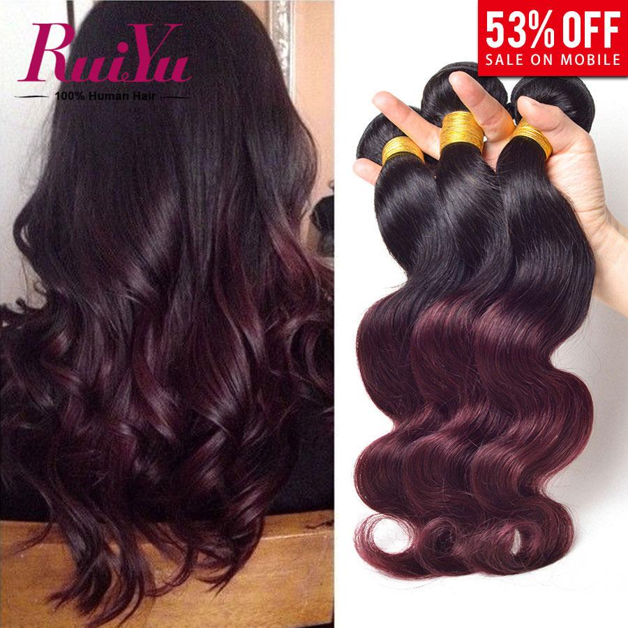 Ombre Hair Extensions Cheap 6a Peruvian Virgin Hair Body Wave 3pcs