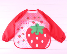Baby Bibs  baby clothing Character girls and boys baby PU bibs bandanas With sleeves 2015 Hot Sale infant towel Free shipping
