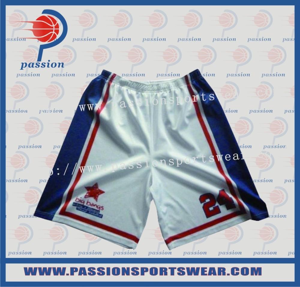 Wholesale custom full sublimation 100% polyester mesh basketball short(China (Mainland))