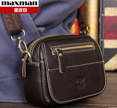 Free Shipping 2015 New mini Women Unisex Men Messenger Bags Fashion Casual Shoulder crossbody genuine leather men bag<br><br>Aliexpress