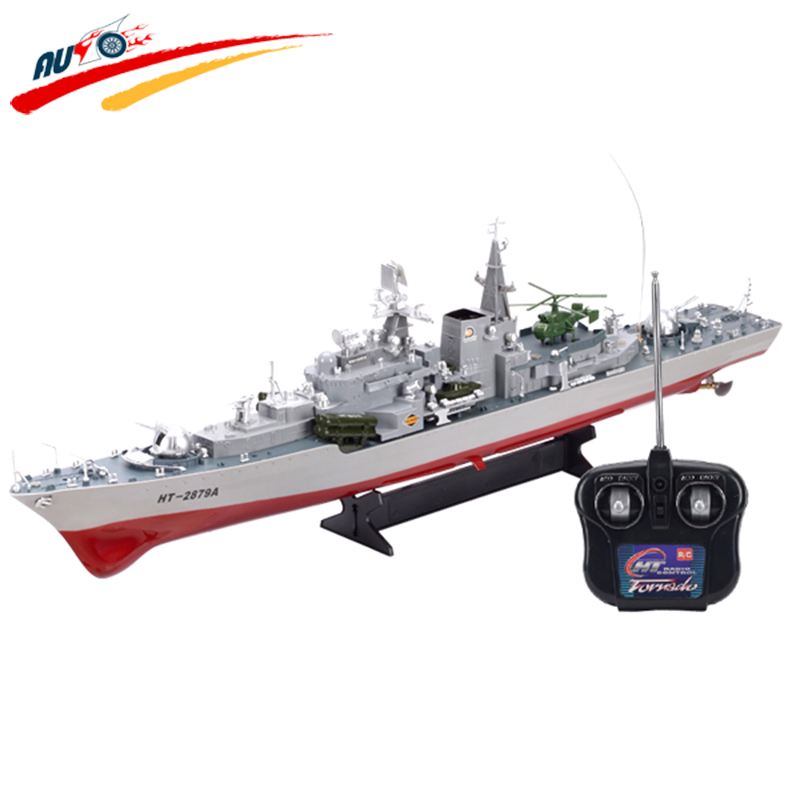 RC Boat HT-2879A 1:275 High-speed Remote Control Destroyer Boat Simulation RC Warship Large Model For Children Gift Toys(China (Mainland))