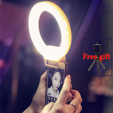 Smartphone LED Ring Selfie Light Supplementary Lighting Night  Darkness Selfie Enhancing Photography for iPhone 6 Plus(China (Mainland))