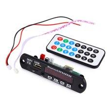 Wireless Audio Decoder Module Car Amplifier Bluetooth MP3 Decoding Board Module FM Radio USB TF AUX Remote Control for Vehicle(China (Mainland))