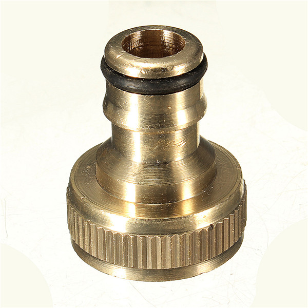 Hot Sale New Arrival 3/4 Solid Brass Threaded Tap Garden Hose Connect Adaptor Tap Snap Fitting Pipe(China (Mainland))