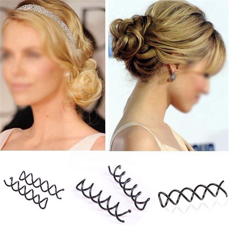 10pcs Black Spiral Spin Screw Bobby Pin Hair Clips Lady Twist Barrette Accessory(China (Mainland))