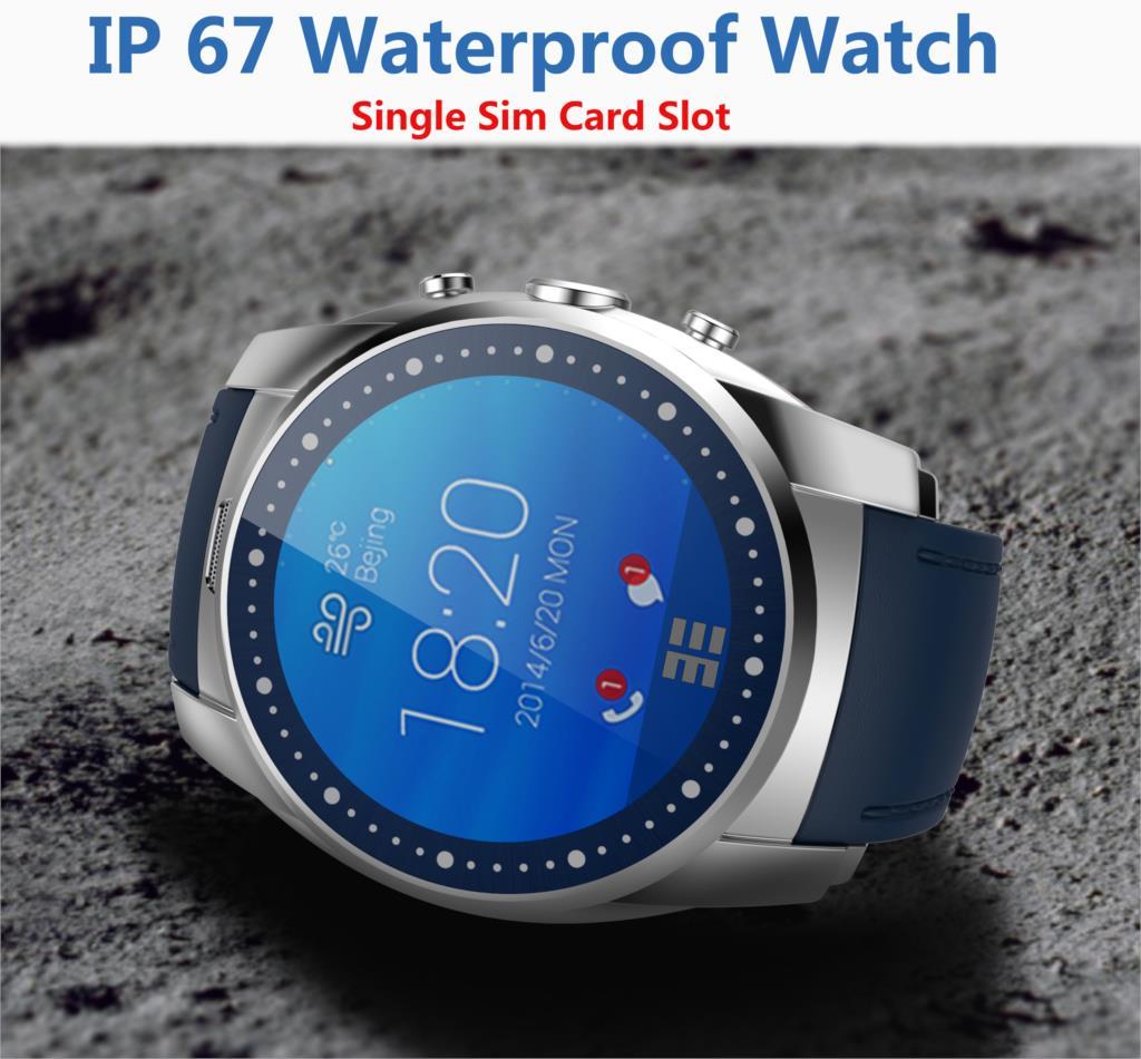 GSM Original Smart Sport Watch Phone IP67 Waterproof phone Bluetooth Heart Rate Monitor SmartWatch Single SIM swimming watch(China (Mainland))