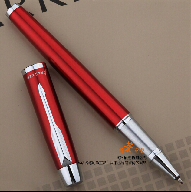 +2 pcs  Refill /  Red With White Clip Design Good Quality Parker Rollerball Pen Office Executive Fast Writing Pen+Gift box<br><br>Aliexpress