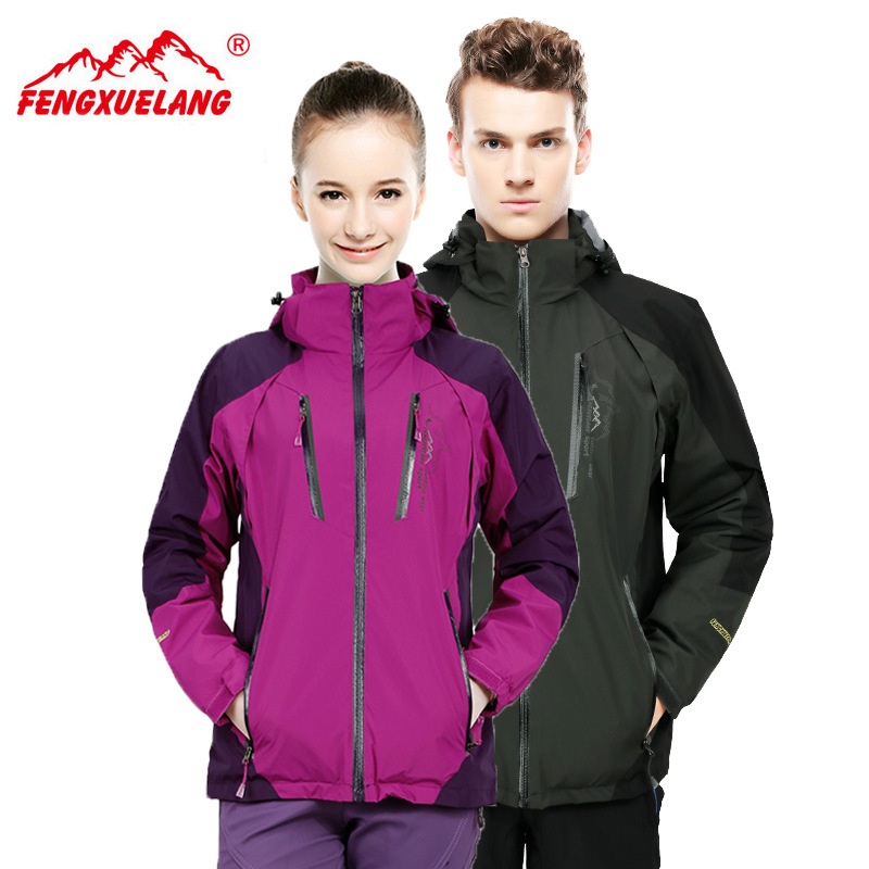 Snow Wolf single manufacturers selling the new couple mountaineering fat XL outdoor jackets(China (Mainland))