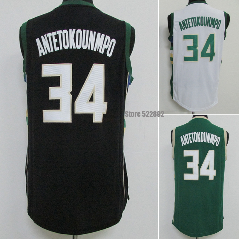 New Arrival Hot Sale!!!  Milwaukee #34 Giannis Antetokounmpo Basketball Jersey, Wholesales Rev 30 Embroidery Shirt Cheap Basketb<br><br>Aliexpress