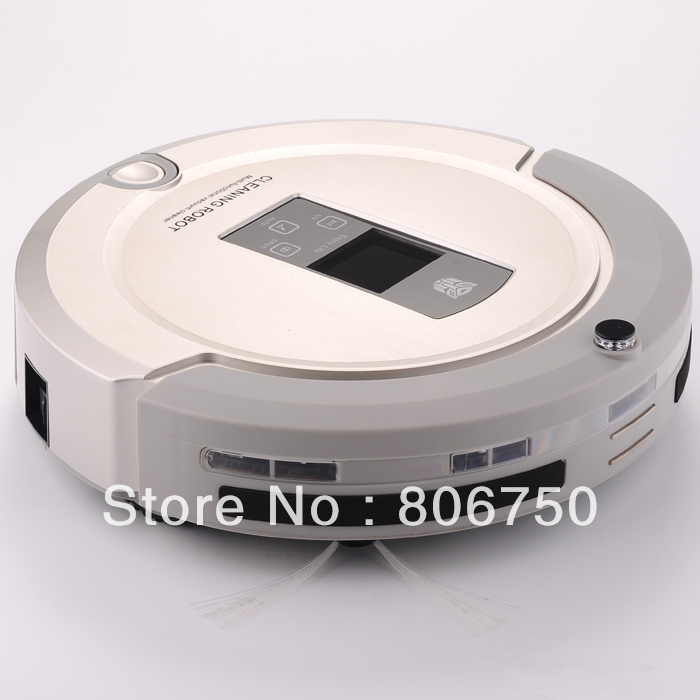 Free Shipping 2014 Newest Technology OEM Shining Logo Robot Vacuum Cleaner with two-way infrared signal Virtual Wall(China (Mainland))