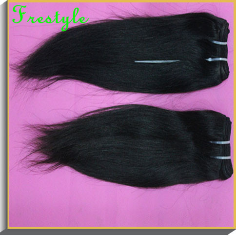 ,#1b nature black,2-lot,short length size 8 inch10 inchinch,unprocessed brazilian virgin remy hair straight weave - Frestyle human (Factory price store)