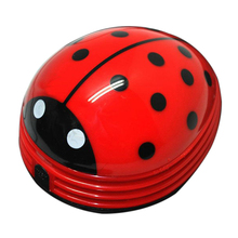 New cartoon animal Electric Mini Ladybug Desktop Coffee Table Vacuum Cleaner Dust Collector for Home Office(China (Mainland))