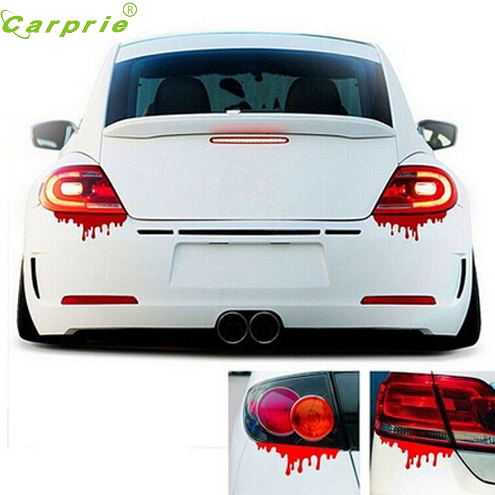Car sticker design for sale - Tiptop New Hot Sale Red Blood Car Stickers Reflective Car Decals Light Bumper Body Sticker Decal