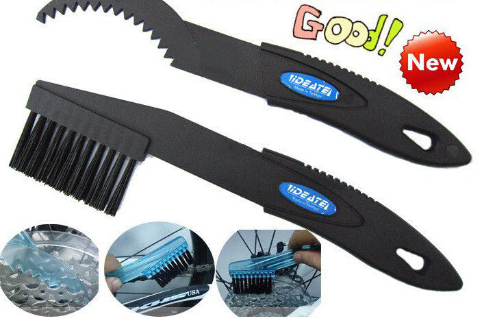 New Bicycle Chain Wheel Cleaner Bike Flywheel Cleaning AndMaintenance Tools Convenient Bicycle Accessories Black Blue Brush