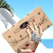 New 2016 Long Section Wallets Women genuine leather Wallet Designer Casual Classic Women Famous Brand Fashion Purse(China (Mainland))