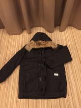 2016 Livraison gratuite Canada Hommes D'hiver Imperméable Respirant manteau en Duvet D'oie veste Loup de col de fourrure Hommes Vers Le Bas veste Parka w06(China (Mainland))