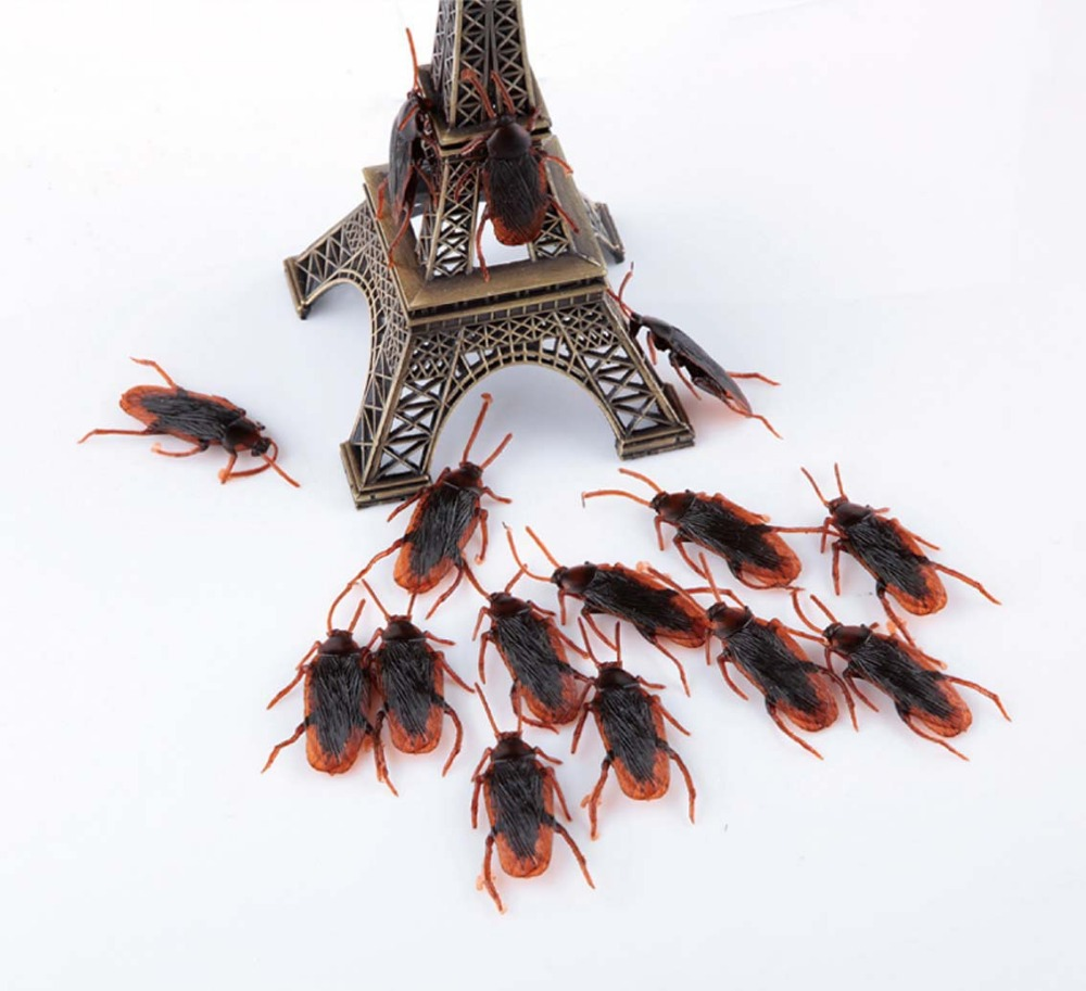 Prank Funny Trick Joke Toys Special Lifelike Model Simulation Fake Rubber Cockroach Cock Roach Bug Roaches Toy Funny(China (Mainland))