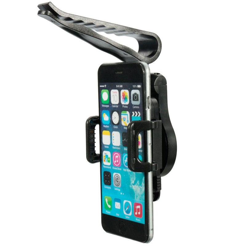 "Black 3.5-6"" 360 Rotating Universal Car Sun Visor Mobile Cell Phone Mount Holder Bracket For IPhone 6 5S For Samsung GPS Holder(China (Mainland))"