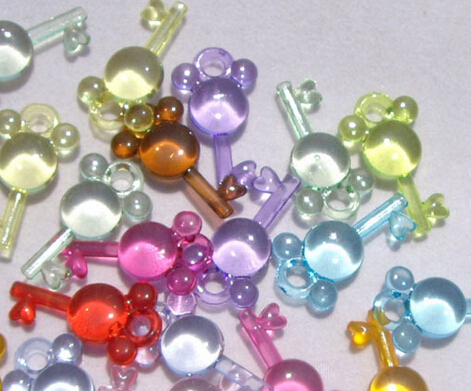 """50 pieces 1"""" Acrylic/Plastic clear key Baby Shower Charm Game Party Decoration Favorsrs(China (Mainland))"""