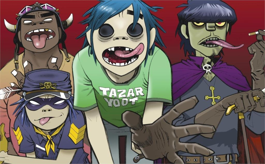 Living room home wall decoration fabric poster Gorillaz Jamie Hewlett 2 D Noodle(China (Mainland))