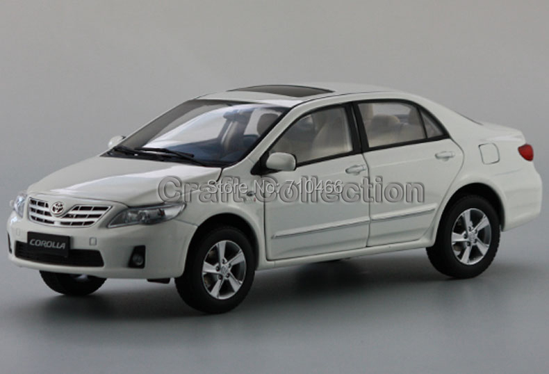 White Toyota New Corolla 2012 Alloy Model Diecast Show Car Replica 1:18 Collectable Diecast Slot Cars Original Factory(China (Mainland))