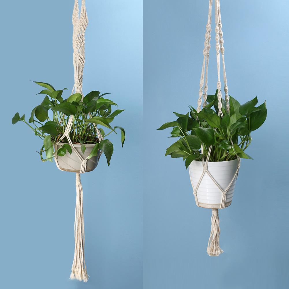 Corde paniers suspendus promotion achetez des corde paniers suspendus promotionnels sur - Suspension pot de fleur macrame ...