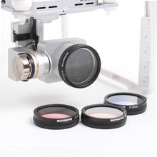 Upgrade Luminous Filter Gradient lens Gradient Gray/ Red /Orange/Blue for DJI Phantom 4 and Phantom 3 Accessories