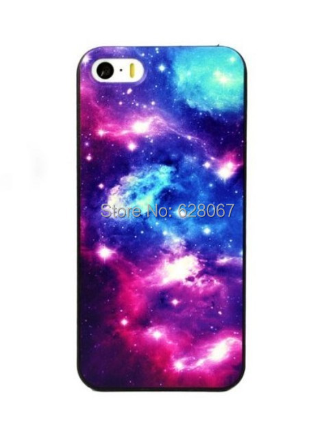 Space Nebula Patterned cell phone Case Hard Cover Back Skin Protector iPhone 5s 4S 5c 6g 6 plus 4.7inch 5.5 inch retail - SanChuen's store