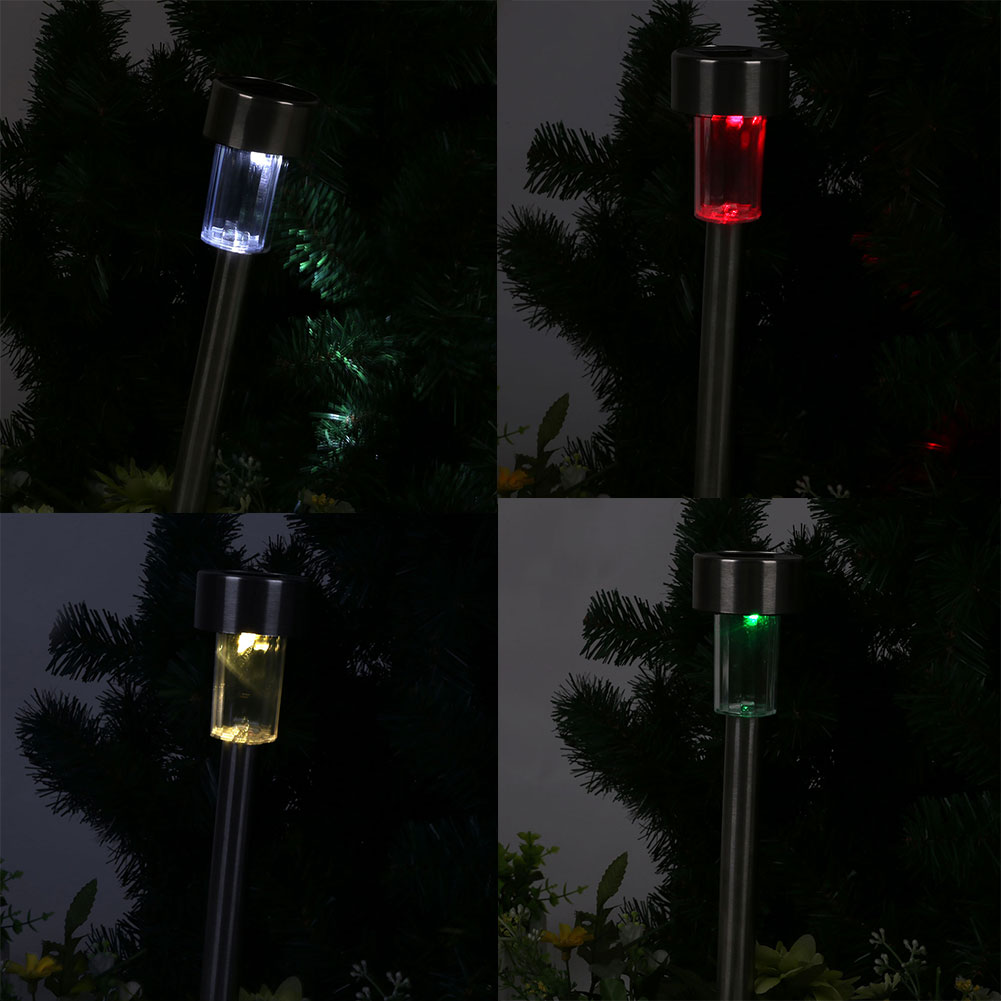 Stainless Steel Mini Solar Powered Security Light Daylight Lamp Yard Garden(China (Mainland))