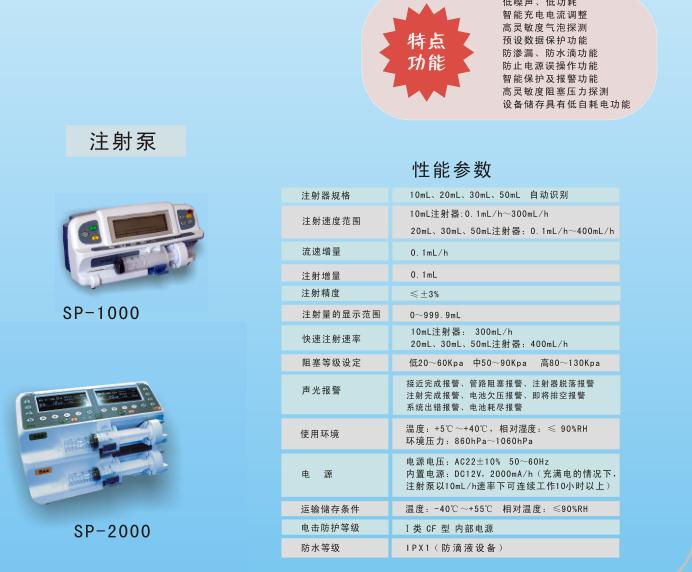 Micro injection pump of SP-2000 injection pump infusion pump