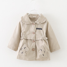 Baby Girl Trench 2016 Spring Fall Next Kids SOLID Outerwear Coats Girl Cotton Jacket ENGLAND STYLE