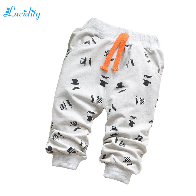 New 2016 Spring Children Pants font b Boys b font Cotton Cute Cartoon Pants Fashion Baby