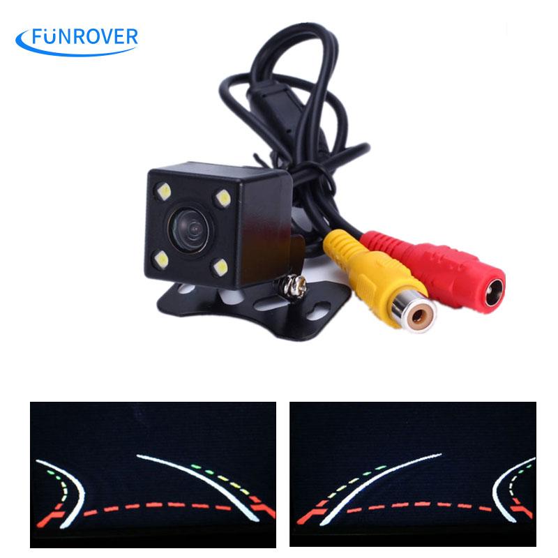 Auto Parking Assistance Waterproof 170 Angle HD CCD Intelligent Reversing Trajectory Dynamic TracksRear View Vehicle Camera Hot(China (Mainland))