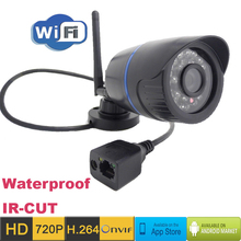 ip camera 720p HD Wifi cctv security waterproof wireless P2P weatherproof outdoor infrared mini Onvif H.264 IR Night Vision CAM(China (Mainland))