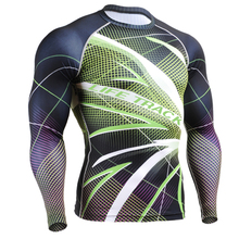 Mens 3D Technical Full Prints Compression Tights Skin Shirts Multiuse Excise& Fitness Long Sleeves Top Shirt Crossfit Sportswear