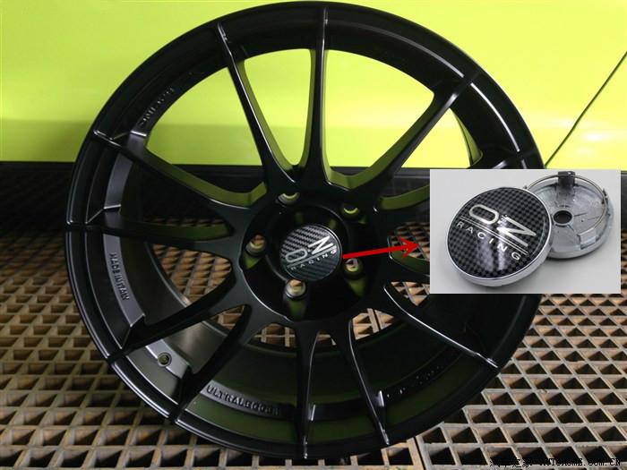 4pcs/lot 60mm Black lattice OZ racing car alloy wheel caps hub Wheel Dust-proof emblem covers car styling auto accessories(China (Mainland))