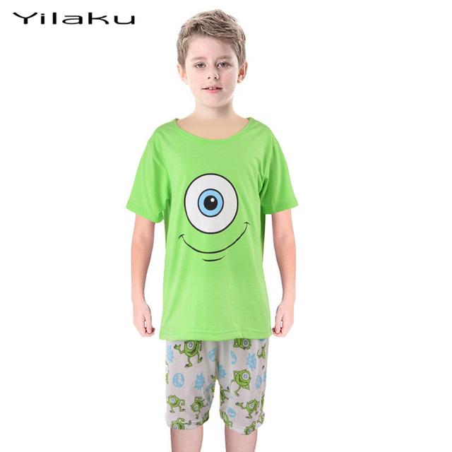 Лето монстры университет одежда пижаме мальчик девочка мультфильм зеленый майк Wazowski хлопка младенца пижамы фабрика производит CF215