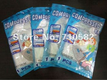 New Package!!!Free shipping 8pcs/lot Mixed sizes of 50*60, 60*80,70*100 and 80*110cm Vacuum storage bag Space bag