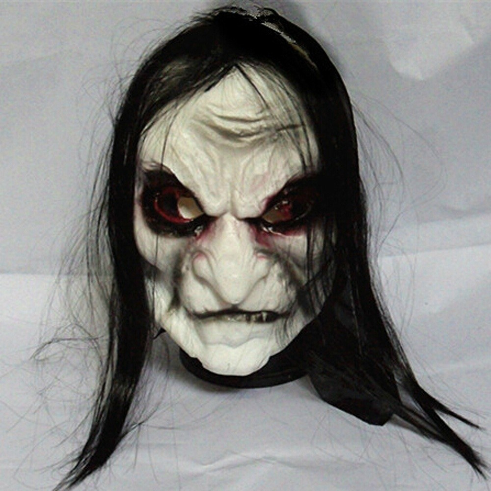 Black Long hair Cosplay ghost mask Blooding Ghost Mask Halloween Cosplay Halloween costumes supplies Ghost Mask(China (Mainland))