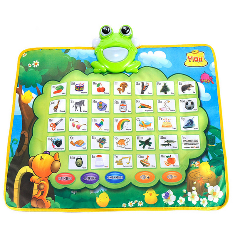 10pcs/lot hot selling Russian alphabet learning blanket childrens multifunction music blanket interest cultivation toy<br>