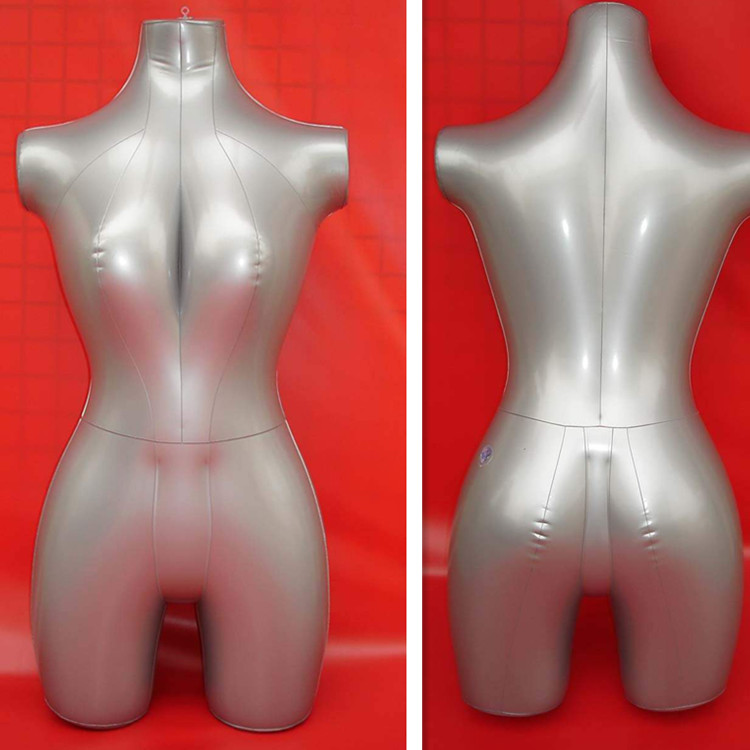 Free Shipping!! New Style Inflatable Female Half Body Mannequin Female Manikin On Sale(China (Mainland))