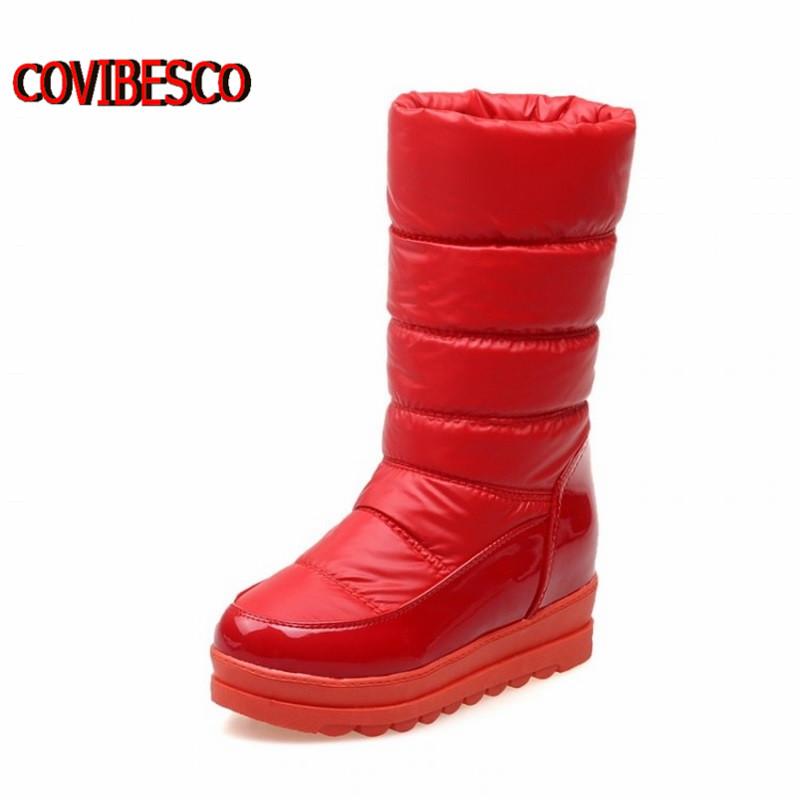 winter boots women knee high fashion design motorcycle fur warm snow shoes woman - COVIBESCO Ltd's store