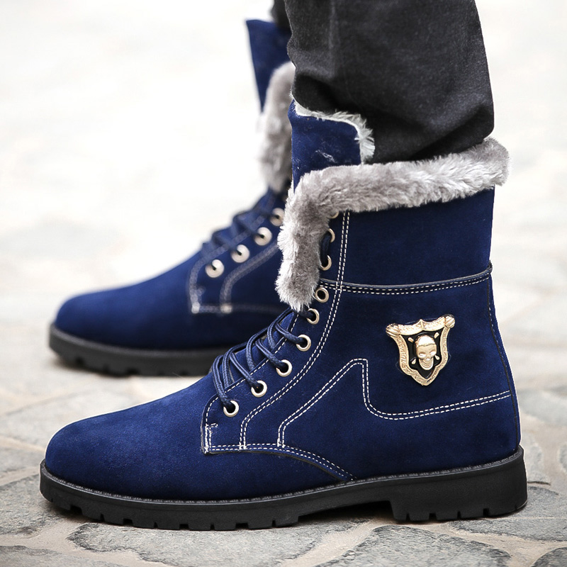 Super Warm Shoes Men Boots Outdoor 2015 New Winter Fashion Snow Boots Men Shoes Leisure Martin England Retro shoes for mens