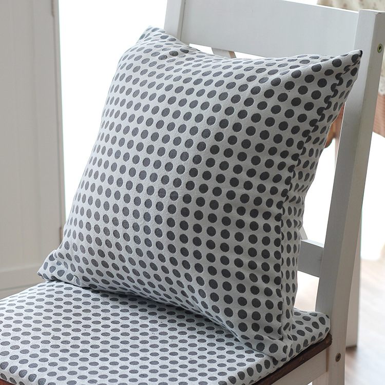 Fabric cushion pillow cover black and white dots pillowcases Korean IKEA style home decoration(China (Mainland))