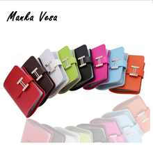 Fashion 20 Card Slot PU Leather Strap Buckle Business Case Wallets Brand ID Credit Card Holder Bank Package Purse Bags 8 colors(China (Mainland))